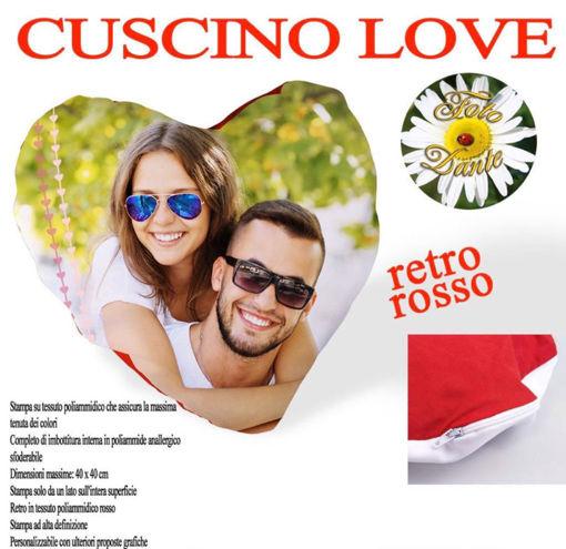 Immagine di Cuscino Personalizzato Love
