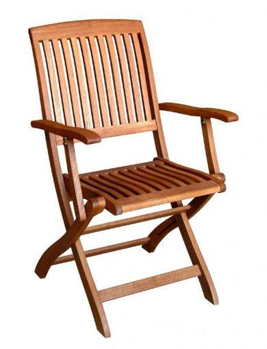 Immagine di sedia Tahiti con braccioli balau