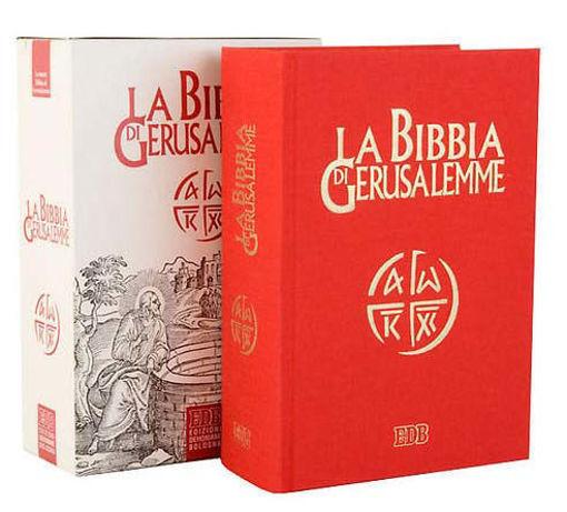Bibbia di Gerusalemme edizione copertina telata rossa.
