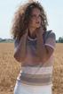Immagine di T-Shirt Righe Cotone/Lurex
