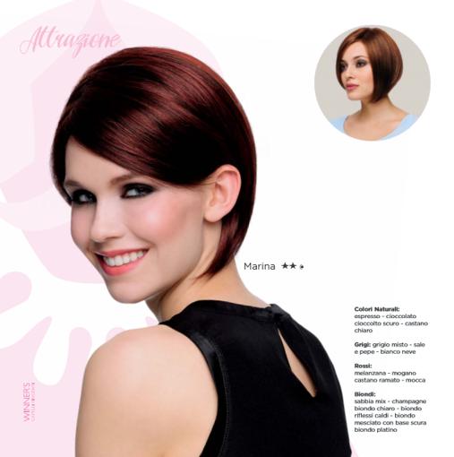 Immagine di Parrucca Marina Colore Chocolate mix