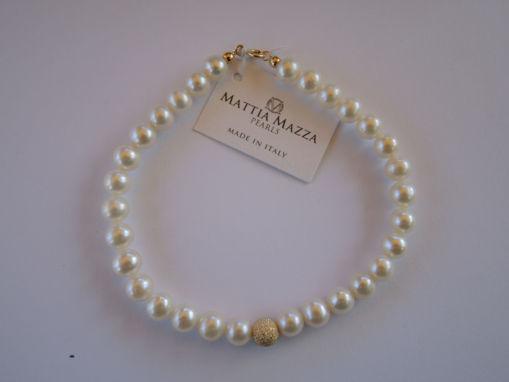 Bracciale di perle e oro giallo donna