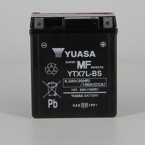 Immagine di Batteria YUASA YuMicron YTX7L-BS, per moto, 12V 6Ah 100A