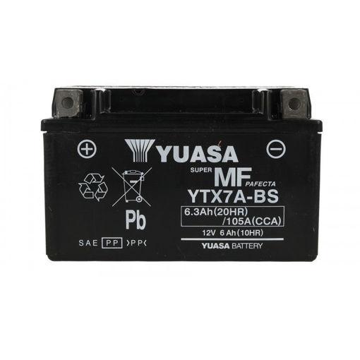 Batteria YUASA YuMicron YTX7A-BS, per moto, 12V 6Ah 105A