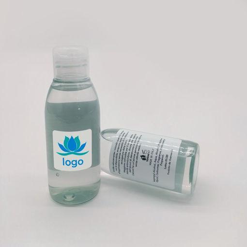 Flacone da 100 ml di gel igienizzante mani idroalcolico con oltre il 60% di alcool.