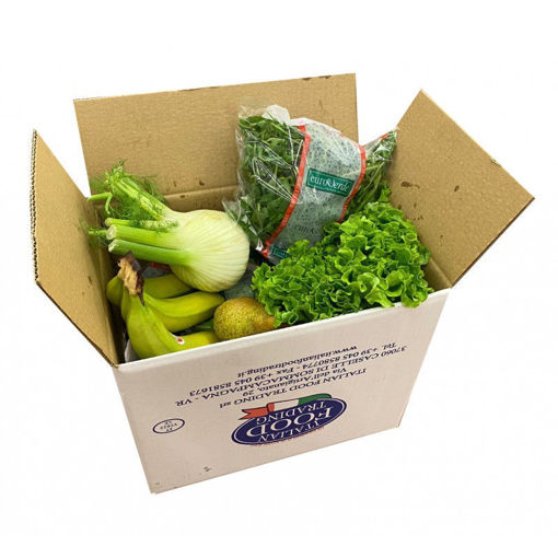 Scatola con 8 Kg circa di frutta e verdura fresca selezionata
