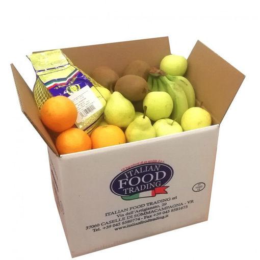 Scatola con 8 Kg circa di frutta fresca selezionata