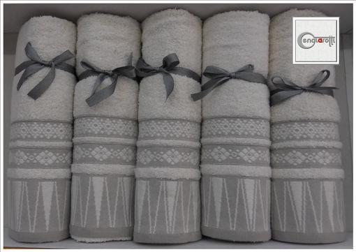 Coppia di asciugamani in cotone