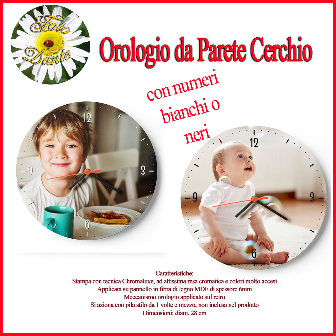 Orologio da Parete Cerchio [+€4,00]