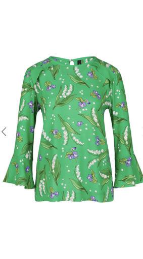 Tunica casacca manica tre quarti in crepe di viscosa con stampa floreale
