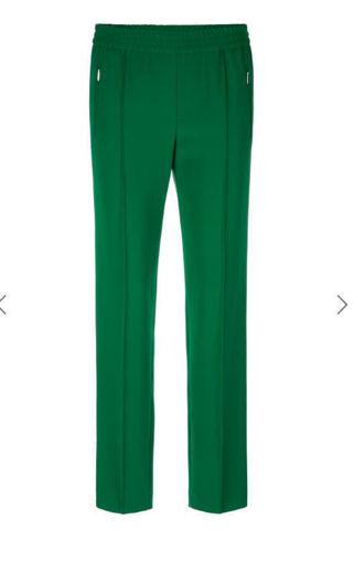 Pantalone strech in cady di viscosa con elastico in cintura