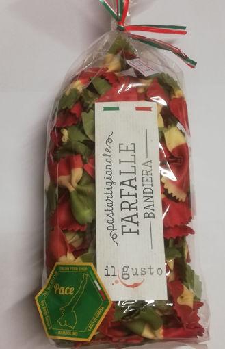 Pasta di semola di grano duro Farfalle Bandiera, confezione da 250 gr