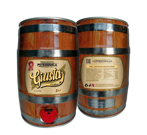 "Fustino 5 litri Birra Artigianale Petrognola ""Giusta"""