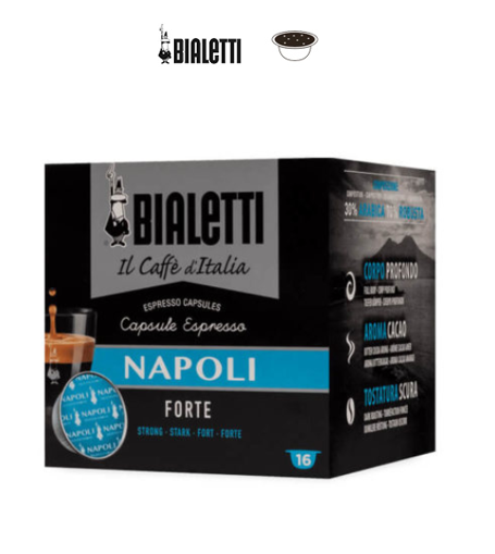 Capsule Bialetti Napoli / Gusto Forte 16 pz