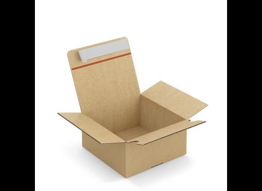 Scatola cartone onda automontante con chiusura adesiva