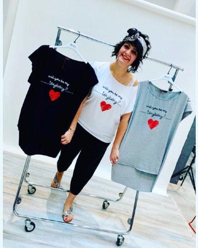 Keyrà - T-shirt asimmetrica in cotone