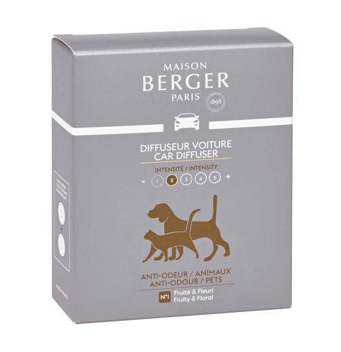 Maison Berger - Cofanetto 2 Ricariche per diffusore Auto Anti-odori - Animali