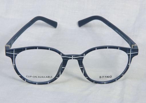 Occhiale da vista bimbo Sting blu + tartan