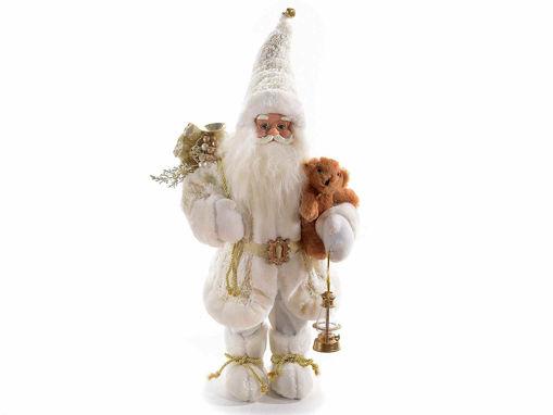 Babbo Natale decorativo con orsetto