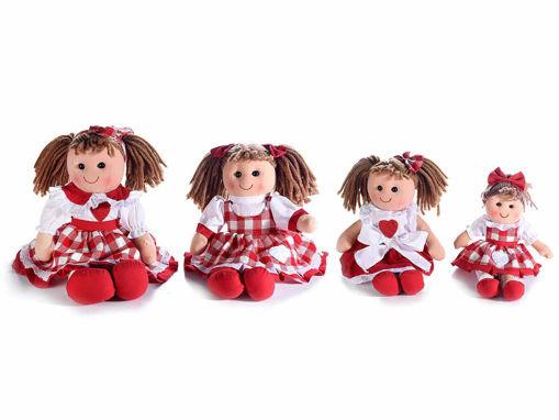 "Set 4 Bambole in Stoffa Imbottita ""Country"""