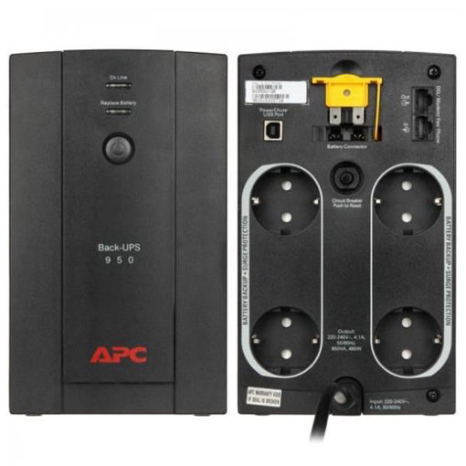 APC - Back-UPS 950VA AVR, Schuko