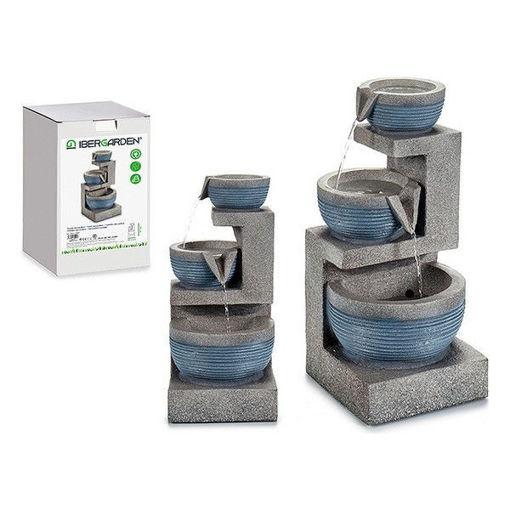 Fontana da giardino in resina 3 vasi