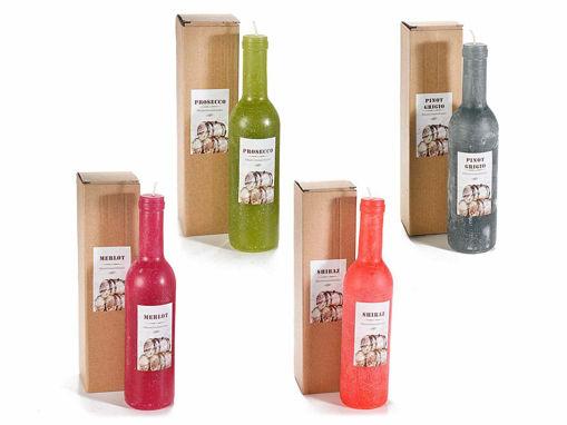 Candela a forma di bottiglia