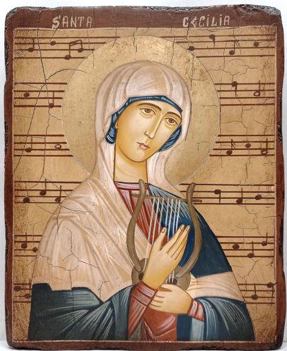 Icona Santa Cecilia (vergine e martire) - III secolo