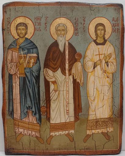 Icona Santi Sisinio, Martirio, Alessandro