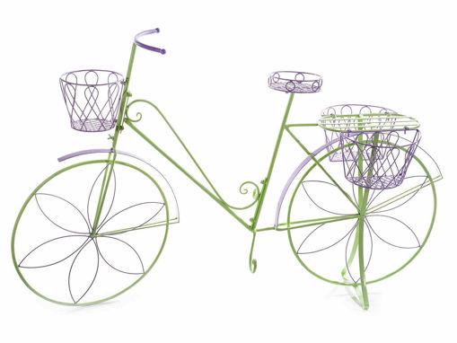 Bicicletta decorativa con 4 portavasi in metallo colorato