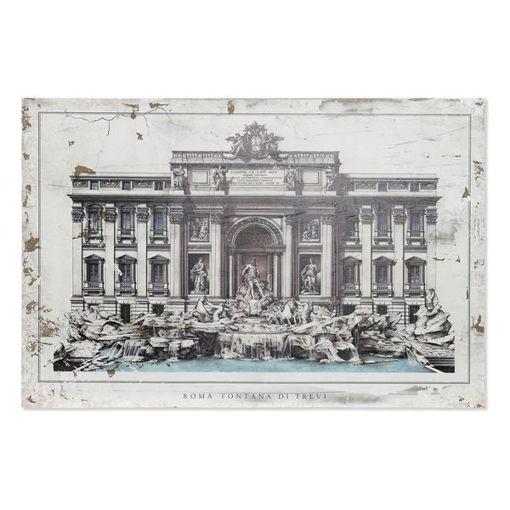 Quadro Dekodonia Roma Fontana Di Trevi Legno Tradizionale (120 x 3 x 80 cm)