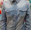 Camicia Jeans  Donna Elasticizzata