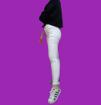 Jeans  Donna Elasticizzato Push Up Bianco