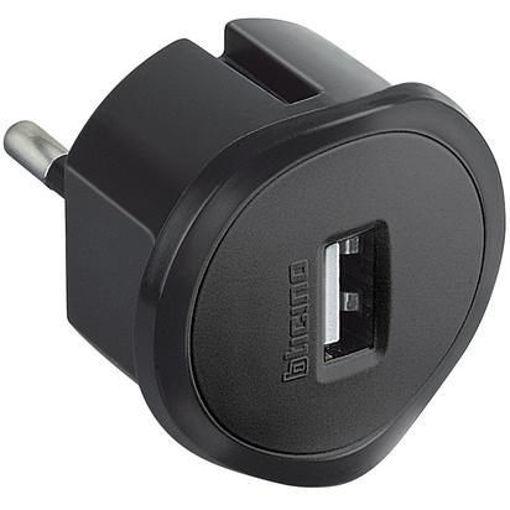 BTicino - KIT Adattatore spina Std Tedesca presa USB 1,5A grigio
