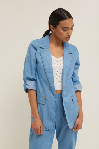 Giacca Jeans Donna in Cotone