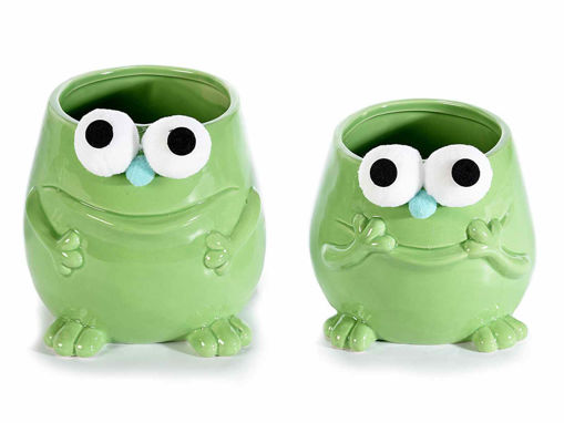 Set 2 vasi in ceramica verde