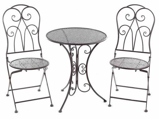 Set tavolo e 2 sedie da giardino