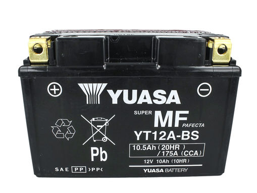 Immagine di Batteria Moto YUASA YT12A-BS Con Acido 12V 10Ah 175A