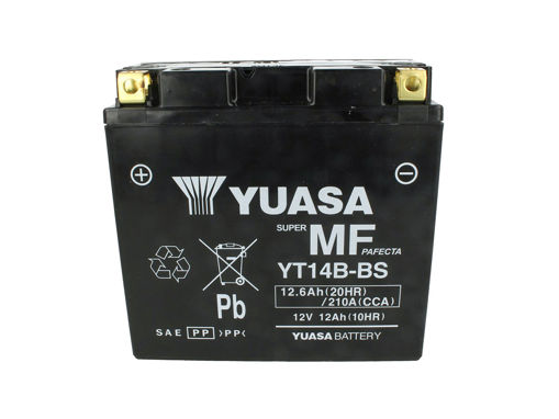 Immagine di Batteria Moto YUASA YT14B-BS Precaricata Sigillata 12V 12Ah 210A