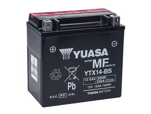 Immagine di Batteria Moto YUASA YTX14-BS Con Acido 12V 12Ah 200A