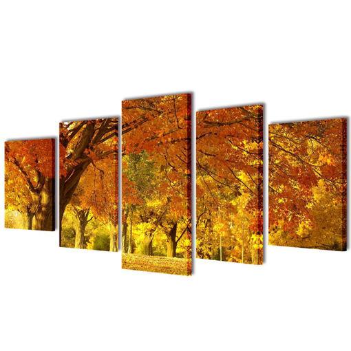 5 pz Set Stampa su Tela da Muro Acero 100 x 50 cm