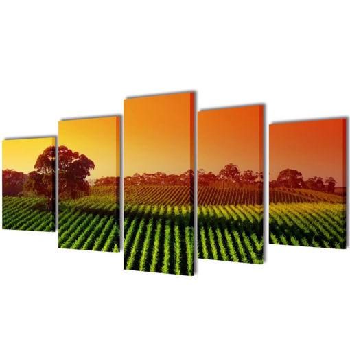 5 pz Set Stampa su Tela da Muro Campi 100 x 50 cm