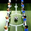 Immagine di Tavolo Calcio Balilla in Acciaio 60 kg 140x74,5x87,5 cm Nero