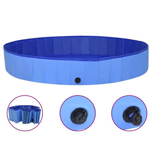 Immagine di Piscina per Cani Pieghevole Blu 200x30 cm in PVC