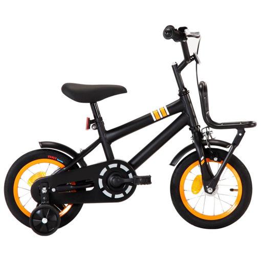 Bici per Bambini con Trasportino Frontale 12'' Nero e Arancione