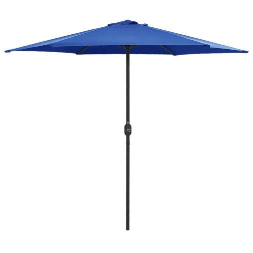 Ombrellone da Esterni con Palo in Alluminio 270x246 cm Azzurro