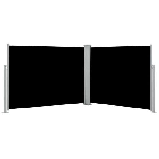 Immagine di Tenda da Sole Laterale Retrattile Nera 170x1000 cm