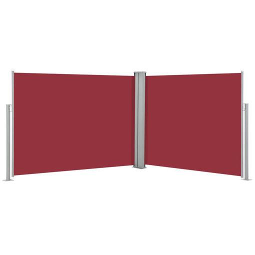 Immagine di Tenda da Sole Laterale Retrattile Rossa 170x1000 cm