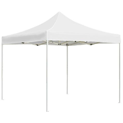 Immagine di Gazebo Professionale Pieghevole Alluminio 2x2 m Bianco