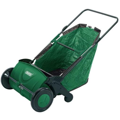 """Draper Tools Spazzatrice da Giardino a Spinta 21"""" Verde"""